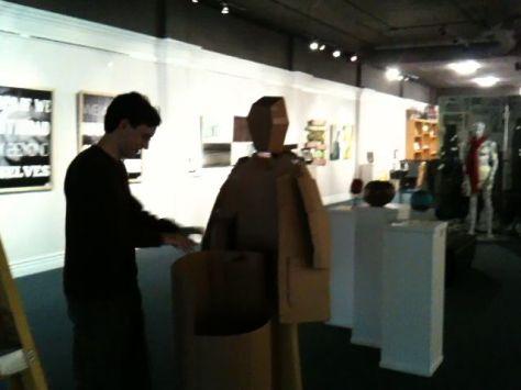 Installing the piece at the Fontana Art Association.